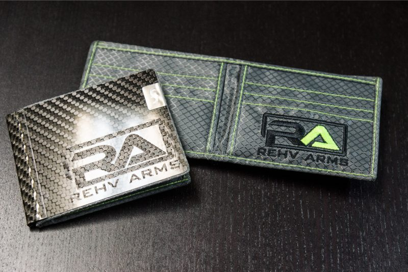 REHV Arms Custom Engraved Branded Embroidery MAX Carbon Fiber Wallet