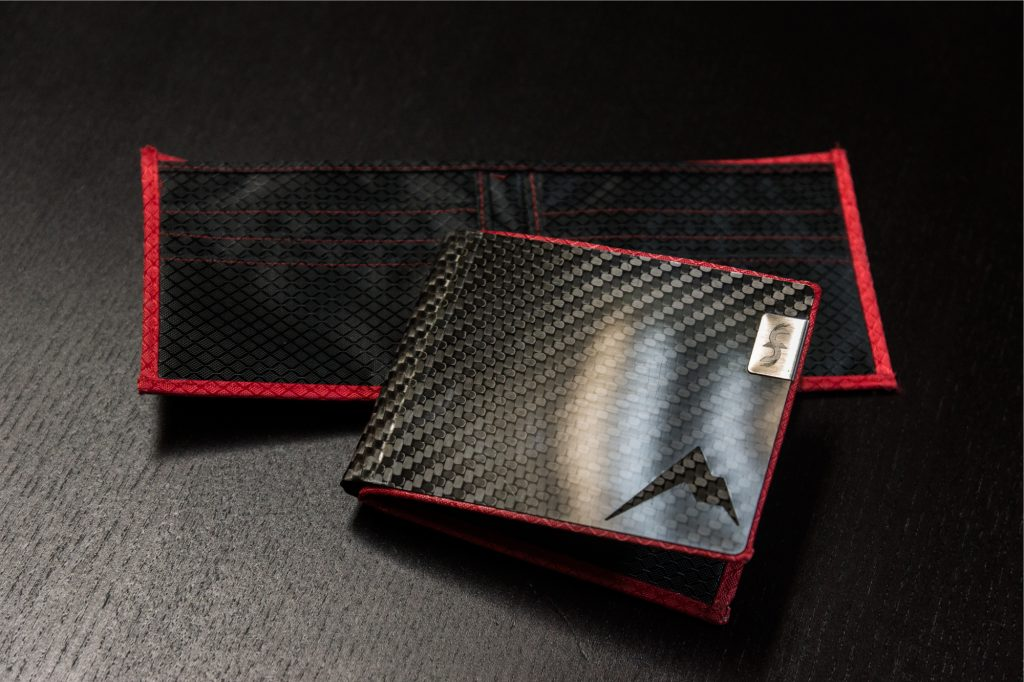 Common Fibers Custom Engraved custom interior MAX Wallet in Red and black