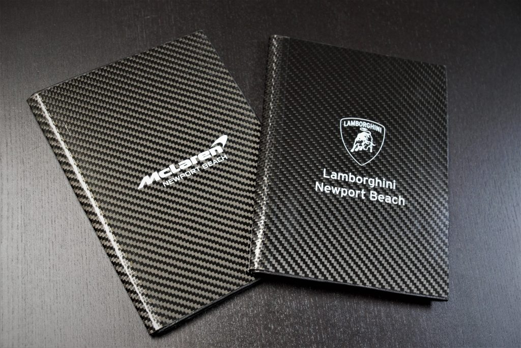 Carbon Fiber Portfolios with Screen Printing